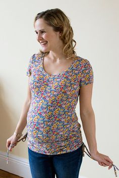 Maternity Agnes Tunic Top and New Liberty Jersey Fabric! | Guthrie & Ghani