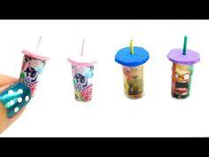 miniature dollhouse cartoon cups really works tutorial l Dollhouse DIY ♥ - YouTube