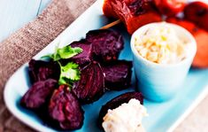 Oven beetroots and sausage skewers, Finnish Food, August 2016
