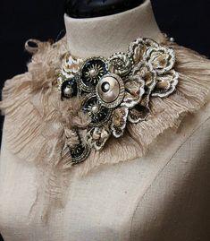 MISS OTIS REGRETS Statement Collar Neckpiece by carlafoxdesign, $395.00