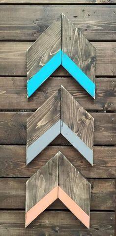 Rustic Home Decor   Rustic Arrow   DIY   Wood Arrow   Dip Dye   Wood Sign   Fall Decor   DIY Chalkboard   Rustic   Shabby Chic  