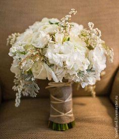 Букет невесты Рустик стиль. Handmade.