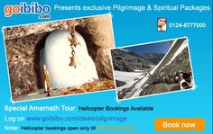 Exclusive Pilgrimage Tours  Visit Amarnath, Chardham, Shirdi, Vaishno Devi, Rishikesh & More View Details http://goo.gl/kY1Y8    Note: Helicopter bookings open only till today!