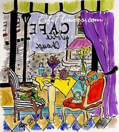 Pretty Lime Cafe à #Paris by Fifi Flowers