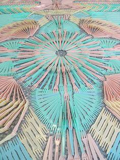 § gorgeous pastel plastic forks