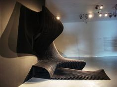 Flowing layers by  Zaha Hadid.