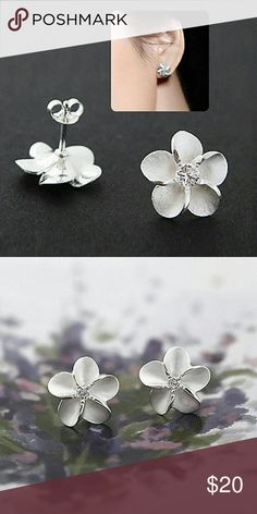 Sterling Silver Plumeria Earrings Aloha! These gorgeous sterling silver Plumeria Earrings are a perfect gift for a special woman or for yourself. Also makes a great upcoming stocking stuffer! Jewelry Earrings
