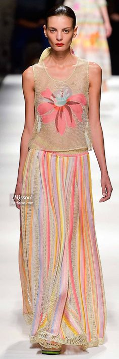"Missoni Summer 2015 ""And the LORD said to Moses, ""Go to the people and consecrate them today and tomorrow. Have them wash their clothes."" Exodus 19:10"