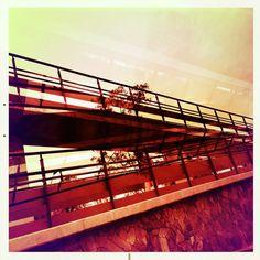 "@fratta's photo: ""#Hipstamatic #Salvador84 #AlfredInfrared"" Metrobus U.N.A.M"