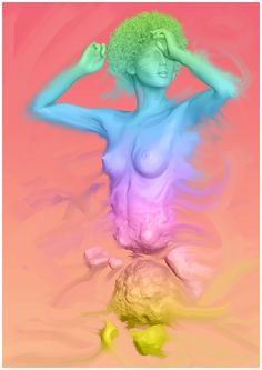 Sinphony of Colors. A3 Digital Oil Paint. Available on demand printing. Signed. #art#new#body#colors#print#originals#illustrations#illustrate