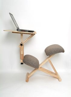 Kneeling Chair Furniture - Kneeling chair furniture pieces are a solution often suggested for people who have had persistent lower back pain.A kneeling chair furniture is cons. Small Woodworking Projects, Woodworking Joints, Woodworking Furniture, Fine Woodworking, Woodworking Organization, Woodworking Quotes, Youtube Woodworking, Woodworking Workbench, Woodworking Techniques