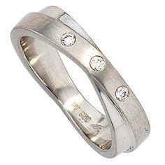 Dreambase Damen-Ring teilmattiert Platin 3 Diamant 0.06 c... https://www.amazon.de/dp/B00AEEFVPG/?m=A37R2BYHN7XPNV