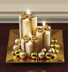 Ivory Holiday Gift Candlescape Set $16.99