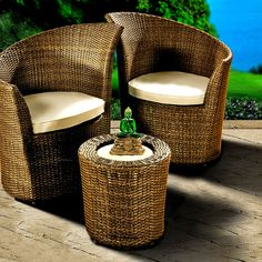 Have to have it. Outback Co. Bacara All Weather Wicker Chat Set $1529.98
