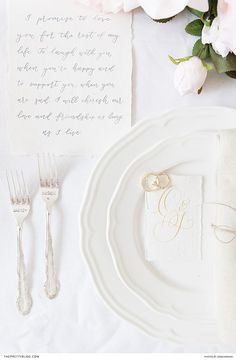 Intricate silver cutlery was paired with crisp white crockery to form a timeless table setting. Luxury Wedding Decor, Romantic Wedding Decor, Romantic Wedding Inspiration, Elopement Inspiration, Chic Wedding, Wedding Reception, Wedding Centerpieces, Wedding Decorations, Paris Elopement