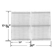 BBQ Stainless Steel Replacement Cooking Grids for Nexgrill Gas Grill Models Like Also Fits Compatible With Kalamazoo Pedestal, Steadfast, Kenmore Kmart Weber Dimensions x Each, x Total, Material Stainless Steel Cooking Grid. Bbq Grill Parts, Bbq Parts, Charbroil Bbq, Bbq Galore, Grill Brands, Chef Grill, Weber Grill, Grill Accessories, Grill Master