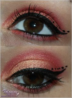 Red Orange Eye Make Up - Datum: 01.06.2012  http://talasia.blogspot.de/2012/06/tag-kleines-lidschatten-1x1-orange-rot.html