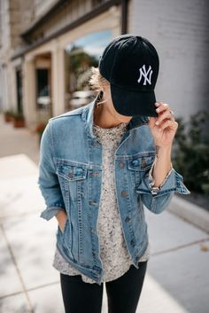Shop the Look from mykindofsweet - ShopStyle | mom style | style details | denim jacket | bad hair day | casual style | outfit idea | women's fashion (affiliated)