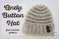 The Andy Button Hat - Free Crochet Pattern by Rescued Paw Designs