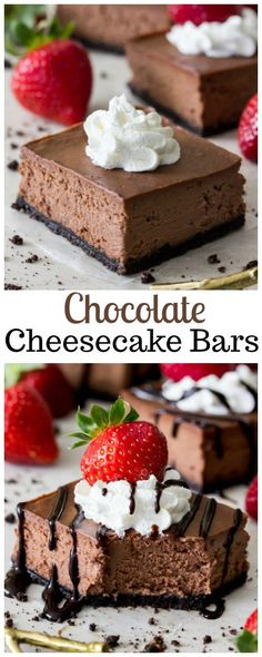 Chocolate Cheesecake Bars @sugarspunrun