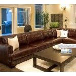 $4989.99 Elements Fine Home Furnishings - Leather Sectional and Chair Set - EAS-2PC-LAFS-RAFL-CS-SC-SADD-1