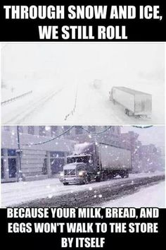 To all truckers to drive safe and hope Spring is right around the corner. www.tranztec.com