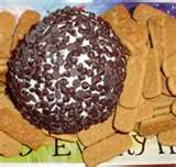 Chocolate Chip Cheeseball- One of my favorite recipes & it is super simple.  I leave out the nuts though.  It is like spreading chocoate chip cheesecake on a graham cracker.