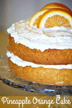 Orange Pineapple Cake, Pineapple Desserts, Best Cake Recipes, Dessert Recipes, Favorite Recipes, Orange Dessert, Pastry Cake, Cake Ingredients, Let Them Eat Cake