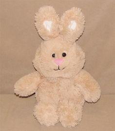 "Animal Adventure Tan Pink Bunny Rabbit Plush Stuffed Animal 14"" Toy 2015 L6012…"