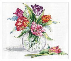 Design Works Tulips Counted Cross Stitch Kit Design Works http://www.amazon.com/dp/B00WJ1EL3U/ref=cm_sw_r_pi_dp_ssLUwb0EVJB9N