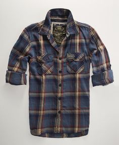 Lumberjack twill shirt from Superdry. It comes in such great colors.