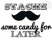 Little Man / Mustache Bash Birthday Party or Baby Shower  ''Grab a Stache & Join the Bash'' Custom Printable Sign. $6.00, via Etsy.