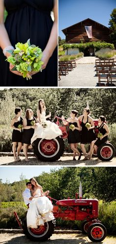 country wedding ideas for fall - love the tractor in the background for pics