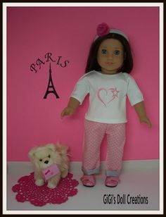 Paris doll clothing for American Girl Doll