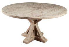 "Mason 59"" Dining Table, Weathered Sand"