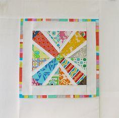 cute paper pieced mini quilt