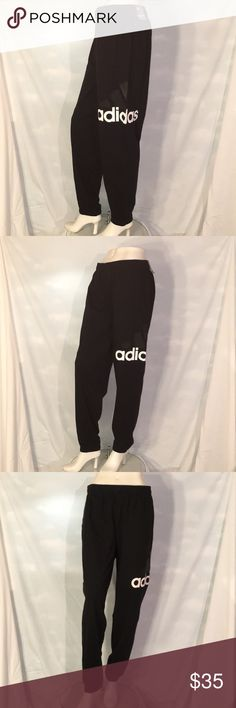Adidas Joggers New w Tag, co-ed, tapered jogger style, normal length, size large. Cotton/Poly blend. Elastic waistband with draw cord. Posh Rules Only, No Trading! Thank you! adidas Pants Track Pants & Joggers