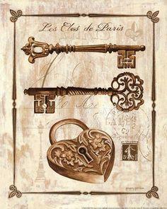 Keys to Paris II by Gregory Gorham art print