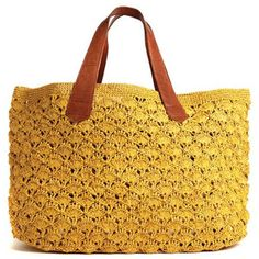 Valencia Crocheted Carryall in Sunflower design by Mar Y Sol