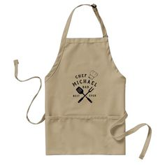 Modern Rustic Chef BEST DAD EVER Father's Day Adult Apron Personalized Aprons, Personalised Gifts, Bbq Apron, Cafe Apron, Father's Day, Grill Master, Unique Birthday Gifts, Modern Rustic, Modern Retro