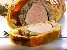 Schweinefilet mit Champignoncreme im Teigmantel -