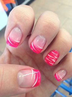 Nail polish design! Pink nice color, purple or black would work also....