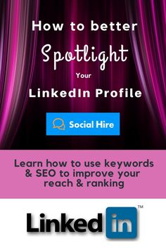 Discover how to easily make your LinkedIn profile more SEO-friendly with the intelligent use of keywords.  What kind of LinkedIn profiles draw your attention? If you take a closer look at successful, memorable LinkedIn profiles, you'll see that...(read more on Social Hire) Profile Drawing, Seo Keywords, Improve Yourself, Make It Yourself, Job Title, Read More, Career, How To Memorize Things, Learning