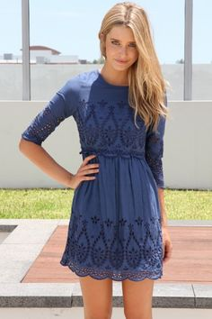 Sabo skirt blue embroidered dress size small S Pretty Dresses, Beautiful Dresses, Vetements Clothing, Casual Dresses, Short Dresses, Casual Outfits, Bon Look, Hipster Grunge, Sabo Skirt
