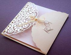 Participación de casamiento boda calado láser / Wedding invitation - laser cut: