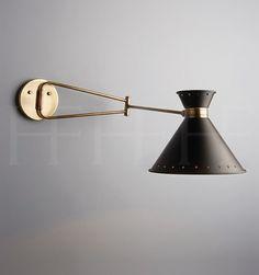 Hector Finch Tom Swing Arm Wall Light (=)