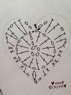 星モチーフ 編み図 の画像|かぎ針編み&オルゴナイト ねおちこハンドメイド