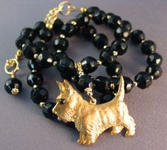 Scottish Terrier dog necklace
