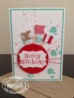 Stampin' Up! Gorgeous Grunge stamp set, Banner punch, Circle punch, Decorative Label punch and Wacky Wishes stamp set...By Atelier Negen