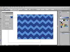 Illustrator Tutorial: Easy Chevron Pattern (CS6 and earlier) - YouTube